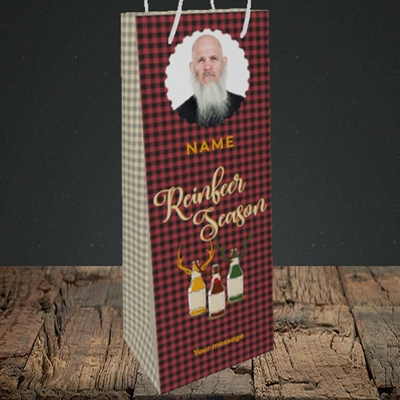 Picture of Reinbeer, Christmas Design, Bottle Bag