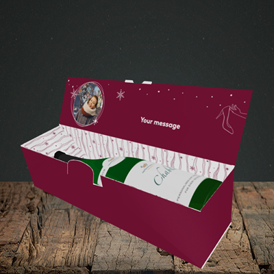 Picture of Christmas Shoes, Christmas Design, Lay-down Bottle Box