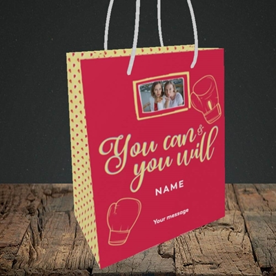 Picture of You Can & You Will, Thinking of You Design, Small Portrait Gift Bag