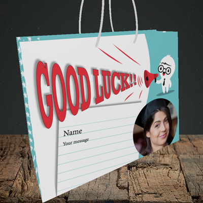 Picture of Shout, Good Luck Design, Medium Landscape Gift Bag