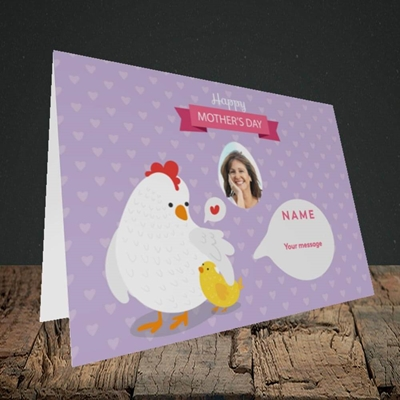 Picture of Hen & Chick, Mother's Day Design, Landscape Greetings Card