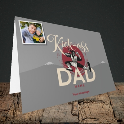 Picture of Kick-Ass Dad, Father's Day Design, Landscape Greetings Card