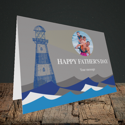 Picture of Lighthouse, Father's Day Design, Landscape Greetings Card