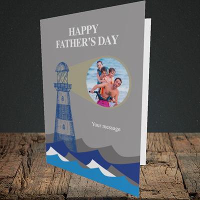 Picture of Lighthouse, Father's Day Design, Portrait Greetings Card