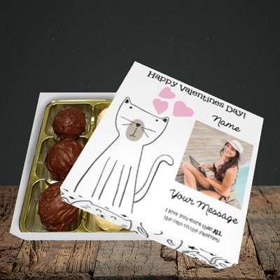 Picture of Cat, Valentine Design, Choc 9