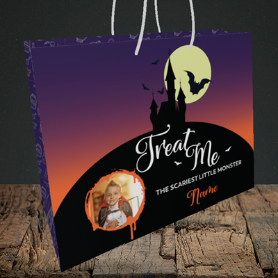 Picture of Castle, Halloween Design, Medium Landscape Gift Bag