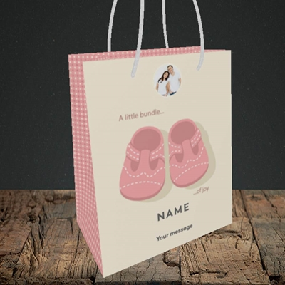 Picture of Little Bundle-Girl, New Baby Design, Small portrait Gift Bag