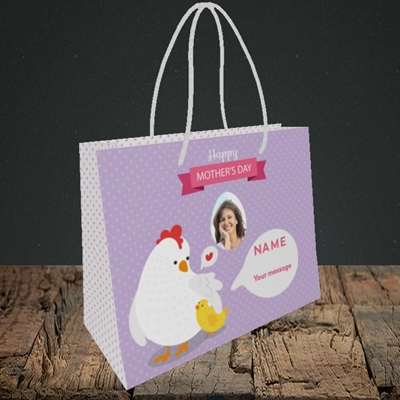 Picture of Hen & Chick, Mother's Day Design, Small Landscape Gift Bag