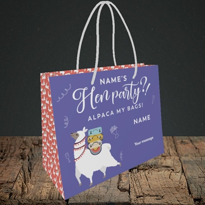 Picture of Alpaca My Bags(Without Photo), Wedding Design, Small Landscape Gift Bag