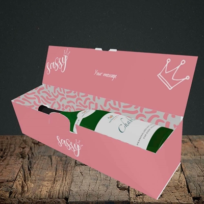Picture of Sassy, (Without Photo) Birthday Design, Lay-down Bottle Box