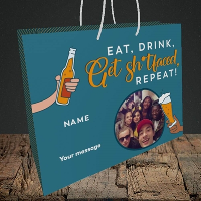 Picture of Sh*tfaced, Birthday Design, Medium Landscape Gift Bag