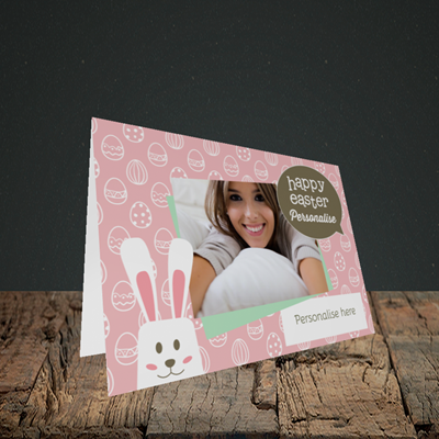 Picture of Rabbits, Easter Design, Landscape Greetings Card