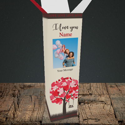 Picture of Lovebirds, Valentine's Design, Upright Bottle Box