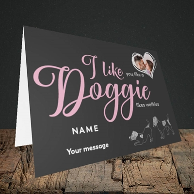 Picture of I Like Doggie, Valentine's Design, Landscape Greetings Card