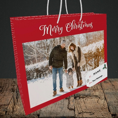 Picture of 1. A Merry Christmas, Large Photo, Christmas Design, Medium Landscape Gift Bag