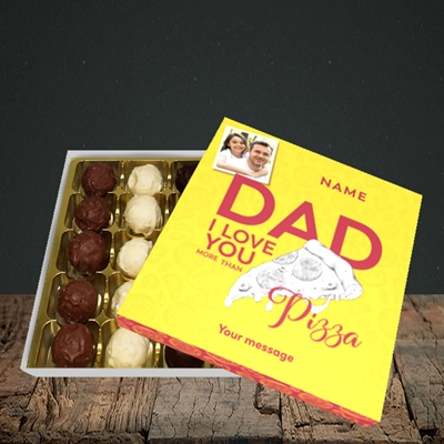 Picture of Love You More Than Pizza, Father's Day Design, Choc 25