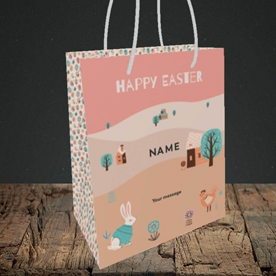Picture of Easter Farm(Without Photo), Easter Design, Small Portrait Gift Bag