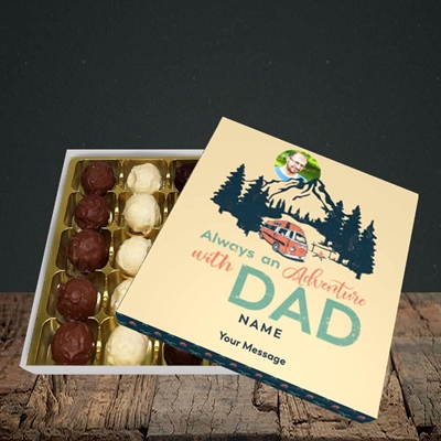 Picture of Camper Van With Dad, Father's Day Design, Choc 25