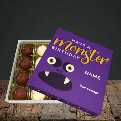 Picture of Monster Face(Without Photo), Birthday Design, Choc 16