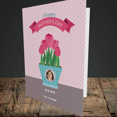 Picture of Flowers On The Table, Mother's Day Design, Mother's Day Design, Portrait Greetings Card