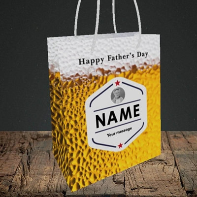 Picture of Premium Father, Father's Day Design, Small Portrait Gift Bag