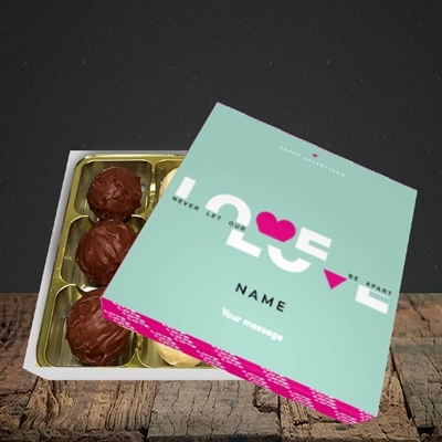 Picture of Never Let Our Love Be Apart (Without Photo), Valentine Design, Choc 9