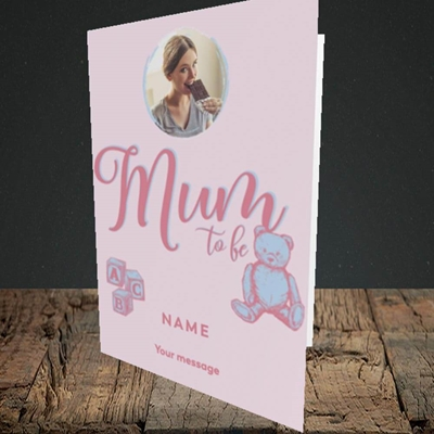 Picture of Mum To Be, Pregnancy Design, Portrait Greetings Card
