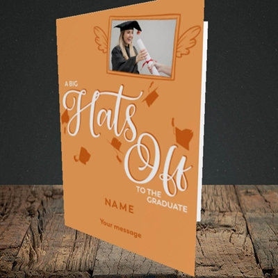 Picture of Hats Off, Graduation Design, Portrait Greetings Card