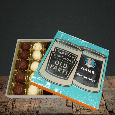 Picture of Tin Of Old Fart, Birthday Design, Choc 25