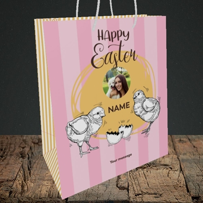 Picture of Little Chicks, Easter Design, Medium Portrait Gift Bag