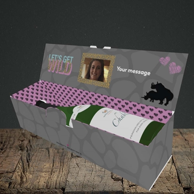 Picture of Let's Get Wild, Valentine's Design, Lay-down Bottle Box