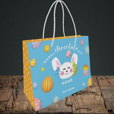 Picture of Chocolate Day, (Without Photo) Easter Design, Small Landscape Gift Bag