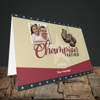 Picture of Champion Father, Father's Day Design, Landscape Greetings Card