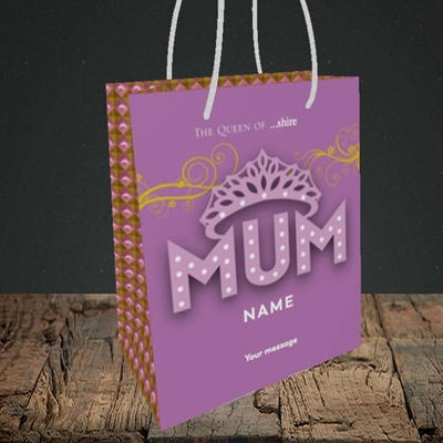 Picture of The Queen(Without Photo), Mother's Day Design, Small Portrait Gift Bag