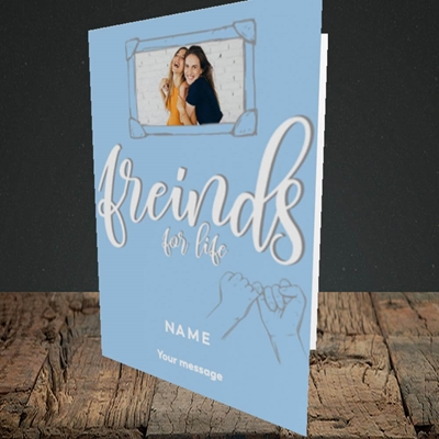 Picture of Friends For Life, Thinking of You Design, Portrait Greetings Card