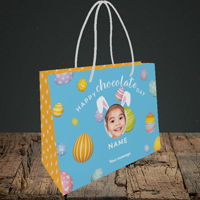 Picture of Chocolate Day, Easter Design, Small Landscape Gift Bag