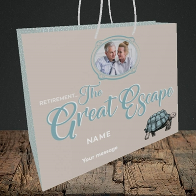 Picture of The Great Escape, Retirement Design, Medium Landscape Gift Bag