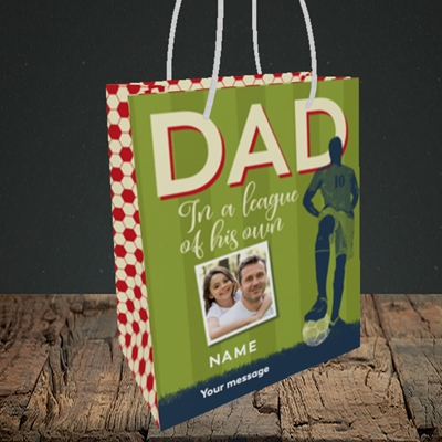 Picture of League Of His Own, Father's Day Design, Small Portrait Gift Bag