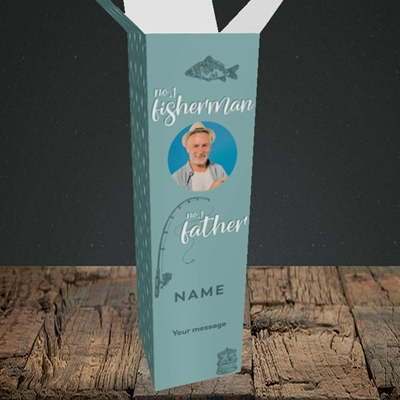 Picture of Fisherman, Father's Day Design, Upright Bottle Box
