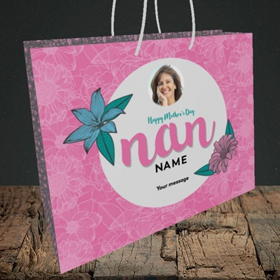 Picture of Happy Mother's Day Nan, Mother's Day Design, Medium Landscape Gift Bag