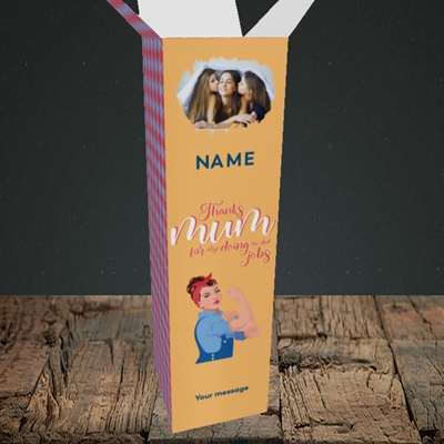 Picture of Dad Jobs, Mother's Day Design, Upright Bottle Box