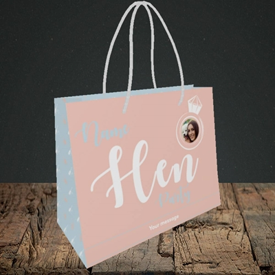 Picture of Hen Party Peach, Wedding Design, Small Landscape Gift Bag