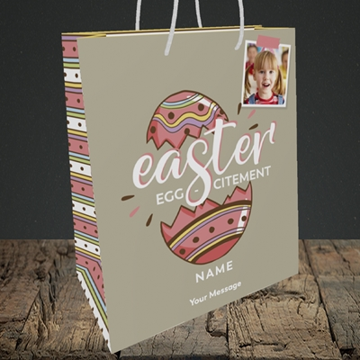 Picture of Egg-citement, Easter Design, Medium Portrait Gift Bag