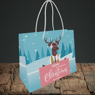 Picture of Countdown(Without Photo), Christmas Design, Small Landscape Gift Bag