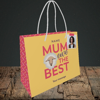 Picture of Ewe The Best, Mother's Day Design, Small Landscape Gift Bag