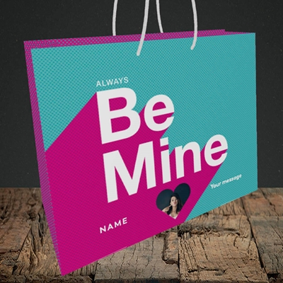 Picture of Always be Mine (type), Valentine's Design, Medium Landscape Gift Bag