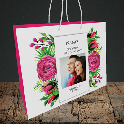 Picture of Flowers, Wedding Design, Medium Landscape Gift Bag