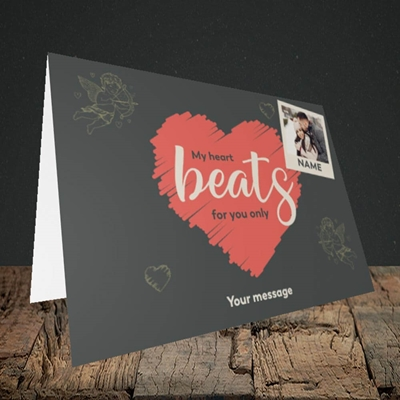 Picture of Beats For You, Valentine's Design, Landscape Greetings Card