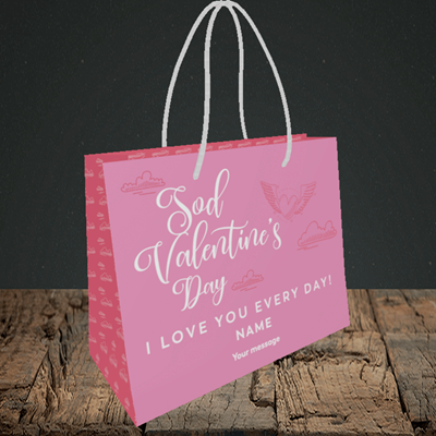 Picture of Sod Valentine's Day, (Without Photo) Valentine's Design, Small Landscape Gift Bag
