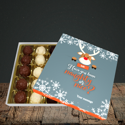 Picture of Naughty, (Without Photo) Christmas Design, Choc 25